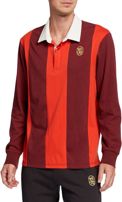 Neiman Marcus Produced by Staple Men's Long-Sleeve Heavy Cotton Rugby Shirt