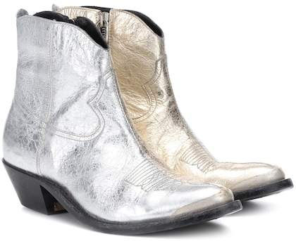 Golden Goose Young metallic leather ankle boots