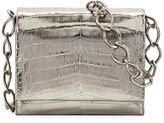 Nancy Gonzalez Small Metallic Crocodile Chain Shoulder Bag