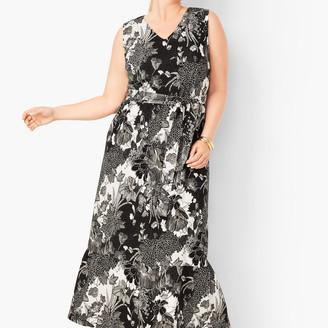 Talbots Floral Jersey Maxi Dress
