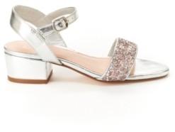 BCBGMAXAZRIA Toddler, Little & Big Girls Hillary Metallic Sandal with Glitter