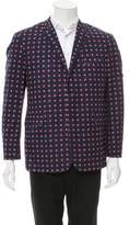 Black Fleece Patterned Three-Button Blazer w/ Tags