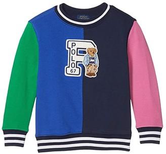 Polo Ralph Lauren Polo Bear Cotton Sweatshirt (Little Kids/Big Kids) (Travel Blue) Boy's Clothing