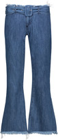 Marques Almeida Marques' Almeida Mid-rise belted frayed flared jeans