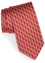 Salvatore Ferragamo Men's Monkey Print Silk Tie
