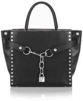 Alexander Wang Attica Chain Large Satchel In Black With Grommets