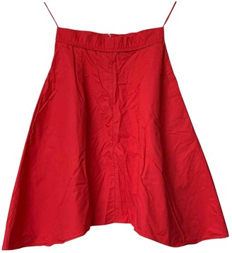 Carven Red Cotton Skirts