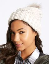 Marks and Spencer Fur Bobble Winter Hat
