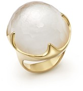 Ippolita 18K Yellow Gold Rock Candy Mother-of-Pearl and Quartz Doublet Ring