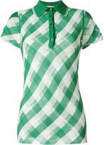 Stella McCartney transparent checks polo shirt - women - Cotton/Polyamide - 44