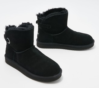 Koolaburra by UGG Suede Buckle Mini Boots - Remley
