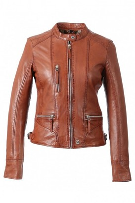 Oakwood Wild Each Mandarin Collar Leather Jacket - 16