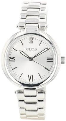 Bulova Women's Classic Diamond Accent Bracelet Watch, 34mm