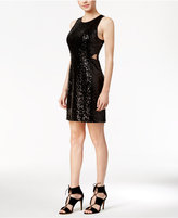 Kensie Sequined Cutout Dress