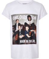 River Island Girls white One Direction print t-shirt