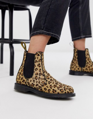 Dr. Martens Flora chelsea boots in leopard