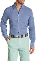 Peter Millar Crown Cool Gingham Print Regular Fit Shirt