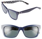 Kate Spade Women's Jenae 53Mm Polarized Sunglasses - Blue/ Black