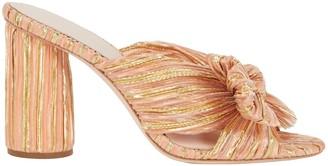 Loeffler Randall Penny Knotted Metallic Slide Sandals