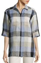 Lafayette 148 New York Yohanna Plaid Blouse