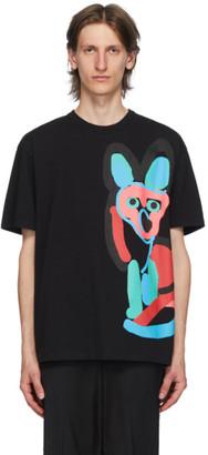 MAISON KITSUNÉ Black ACIDE Fox Print T-Shirt