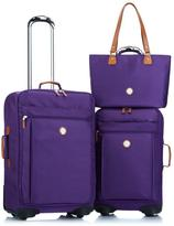 Joy Lightweight Tufftech Luggage Set For Life With Spinball Wheels And 1-Year Conde Nast Traveler Magazine