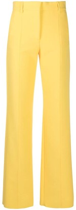 MSGM High-Waisted Straight-Leg Trousers