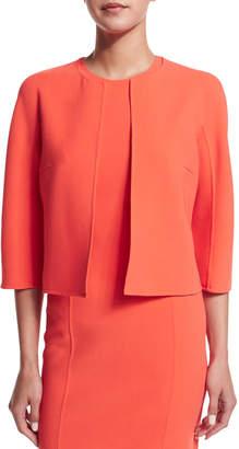 Michael Kors 3/4-Sleeve Open-Front Jacket