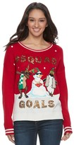 """It's Our Time Juniors' Squad Goals"""" Ugly Christmas Sweater"""