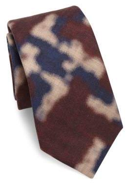 Isaia Patterned Silk Tie
