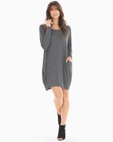 Soma Intimates Long Sleeve Short Dress Charcoal