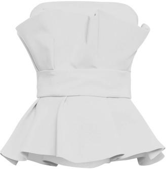Cliché Reborn Fold Detail Pep Hem Bandeau Top In White