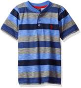 U.S. Polo Assn. Little Boys' Printed Slub Henley T-Shirt