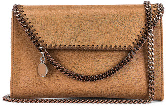 Stella McCartney Mini Falabella Shaggy Deer Crossbody Bag in New Camel | FWRD