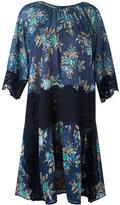 Twin-Set lace detail floral dress - women - Cotton/Polyester - 42