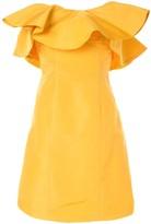 Bambah amarillo ruffle mini dress
