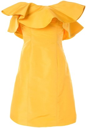 Bambah Amarillo Ruffle Mini Dress