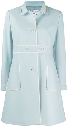 RED Valentino Contrasting Trim Buttoned Coat