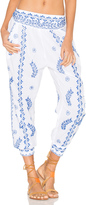 Juliet Dunn Cotton Embroidered Trousers
