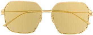 Bottega Veneta Geometric Frame Sunglasses