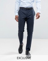 Jack & Jones Premium Slim Fit Suit Trousers In Navy