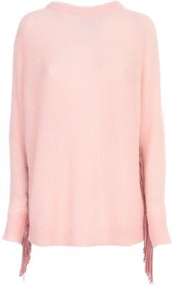 Wool Long Sweater W/fringes Be Blumarine