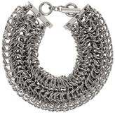 Alexander Wang Silver Three Row Box Chain Necklace