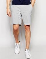 Asos Slim Smart Shorts In White Check