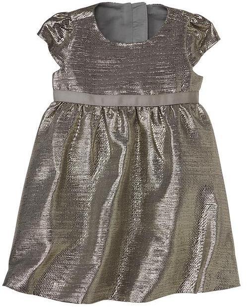 Gap Metallic jacquard dress