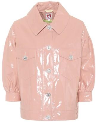 Shrimps Faux patent leather blouson jacket