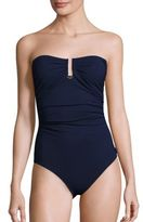 Shan Blue Valentine One-Piece Bandeau Swimsuit