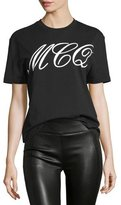 McQ by Alexander McQueen Classic Logo Jersey Tee, Black