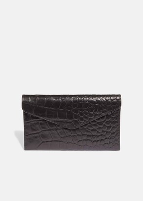 Phase Eight Violet Fold Over Leather Purse