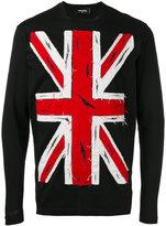DSQUARED2 union jack sweatshirt - men - Cotton - S